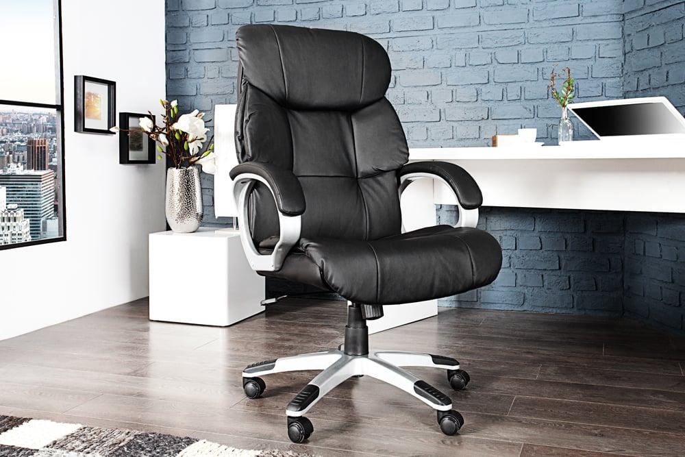 design b rodrehstuhl strong xxl schwarz chefsessel bis 150 kg mit armlehnen riess. Black Bedroom Furniture Sets. Home Design Ideas