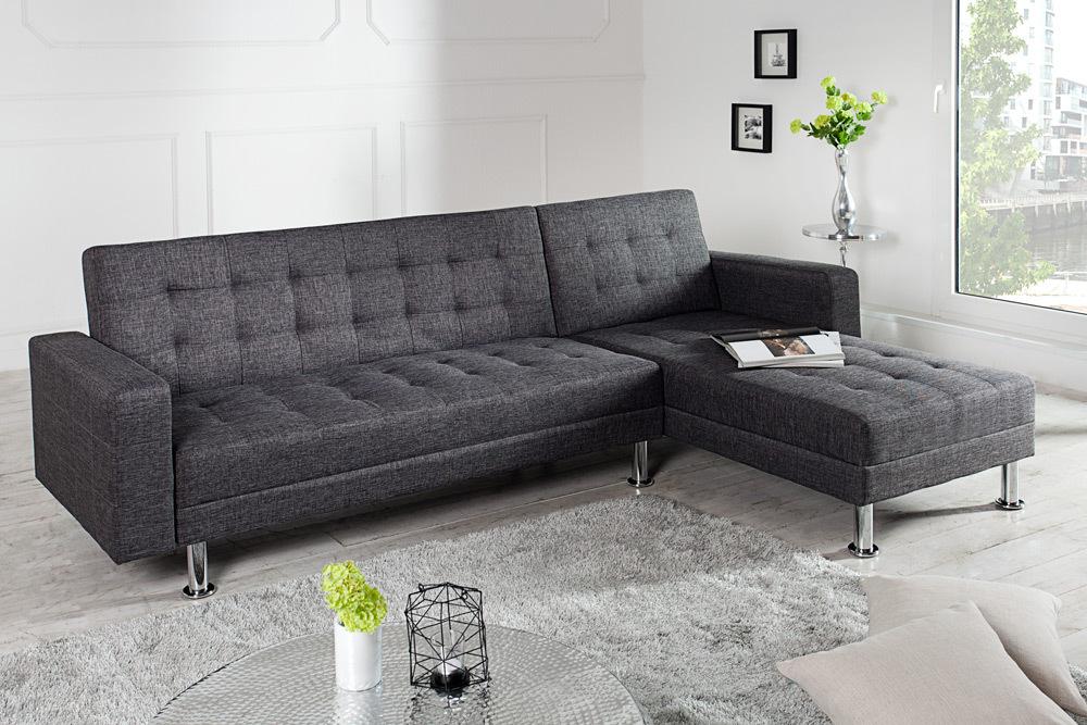 Chaiselongue mit schlaffunktion  Design Ecksofa CHAISE LOUNGE mit Schlaffunktion beidseitig ...