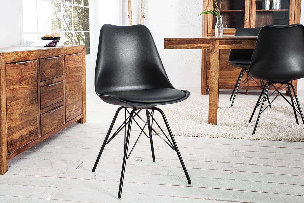 Stühle Designklassiker retro stuhl scandinavia meisterstück schwarz designklassiker