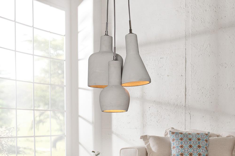 design beton h ngeleuchte cement collection 3er riess. Black Bedroom Furniture Sets. Home Design Ideas