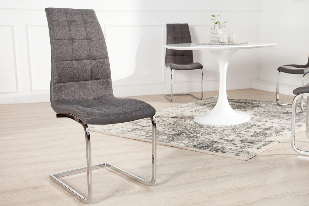 ZiersteppungRiess London Moderner Grau Mit Stuhl Freischwinger 8wm0Nn