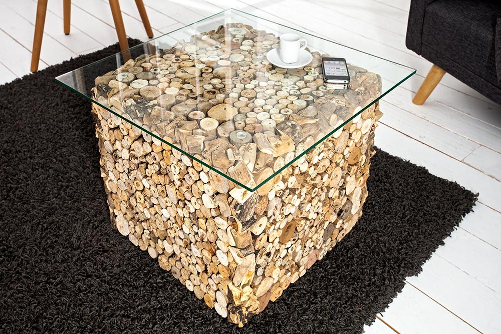 au ergew hnlicher treibholz couchtisch fossil teak elemente in handarbeit gefertigt mit. Black Bedroom Furniture Sets. Home Design Ideas