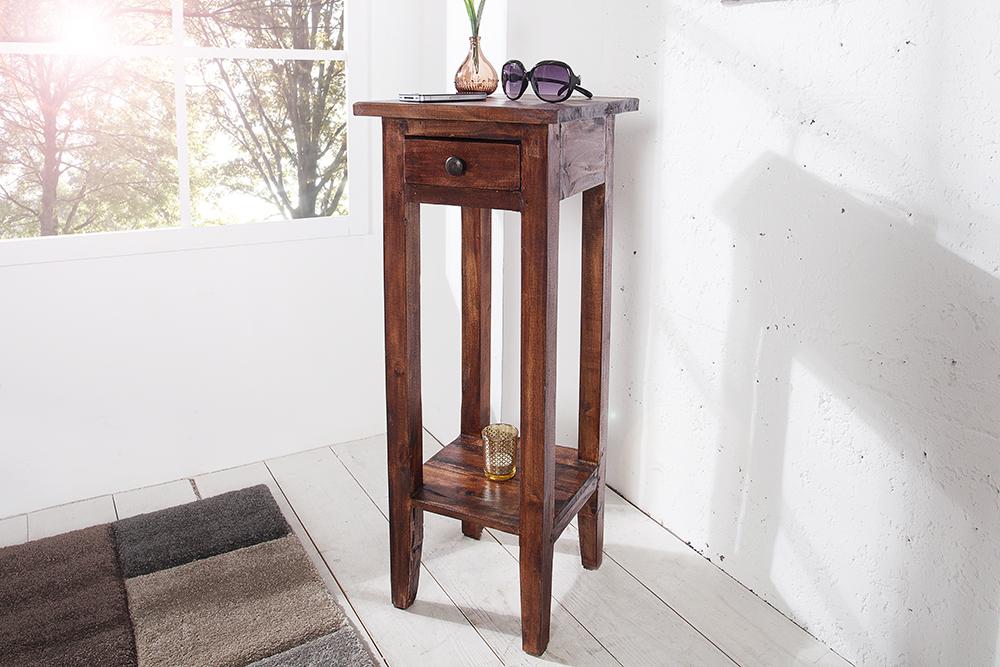 Antiker Telefontisch HEMINGWAY 30cm Mahagoni Shabby Chic Coffee ...