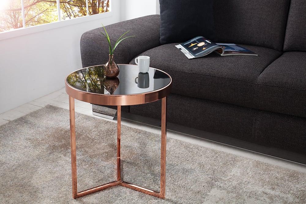 design beistelltisch original astro 50 cm kupfer schwarz. Black Bedroom Furniture Sets. Home Design Ideas