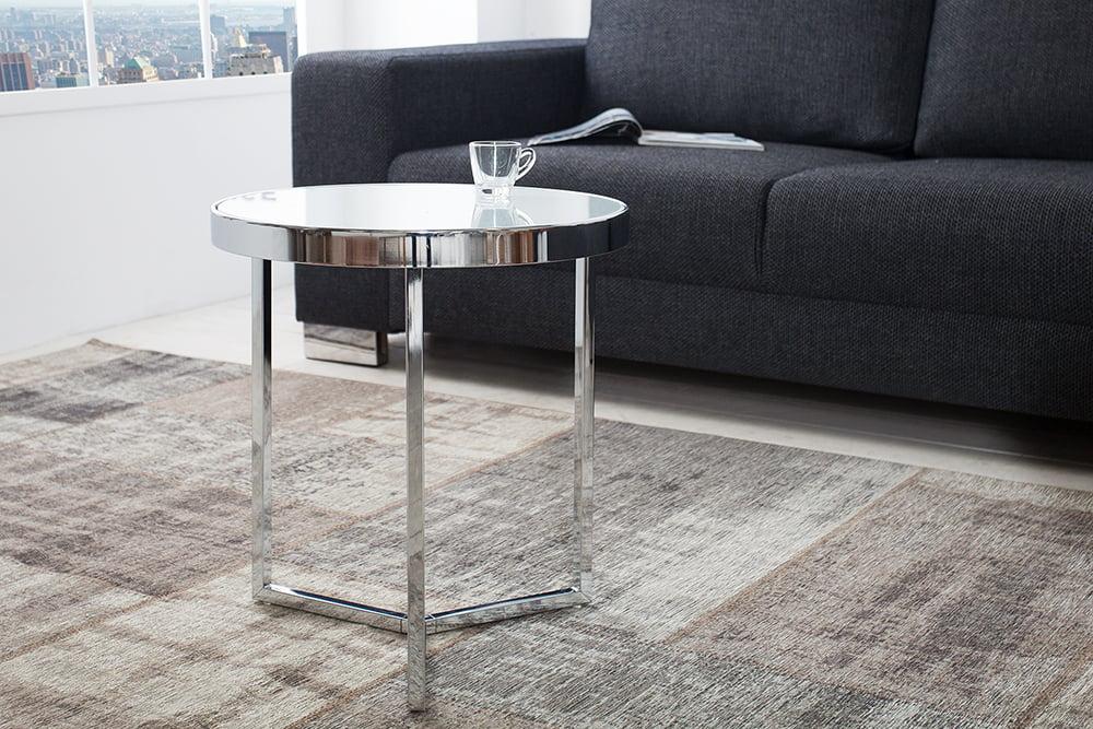 Beistelltisch Design design beistelltisch original astro 50 cm chrom weiß couchtisch