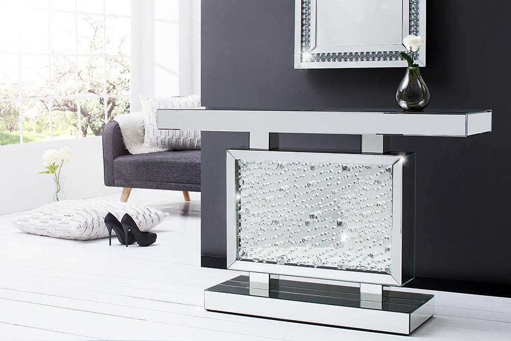 Verspiegelte design konsole brilliant 120 cm spiegelkonsole riess - Konsolentische modern ...