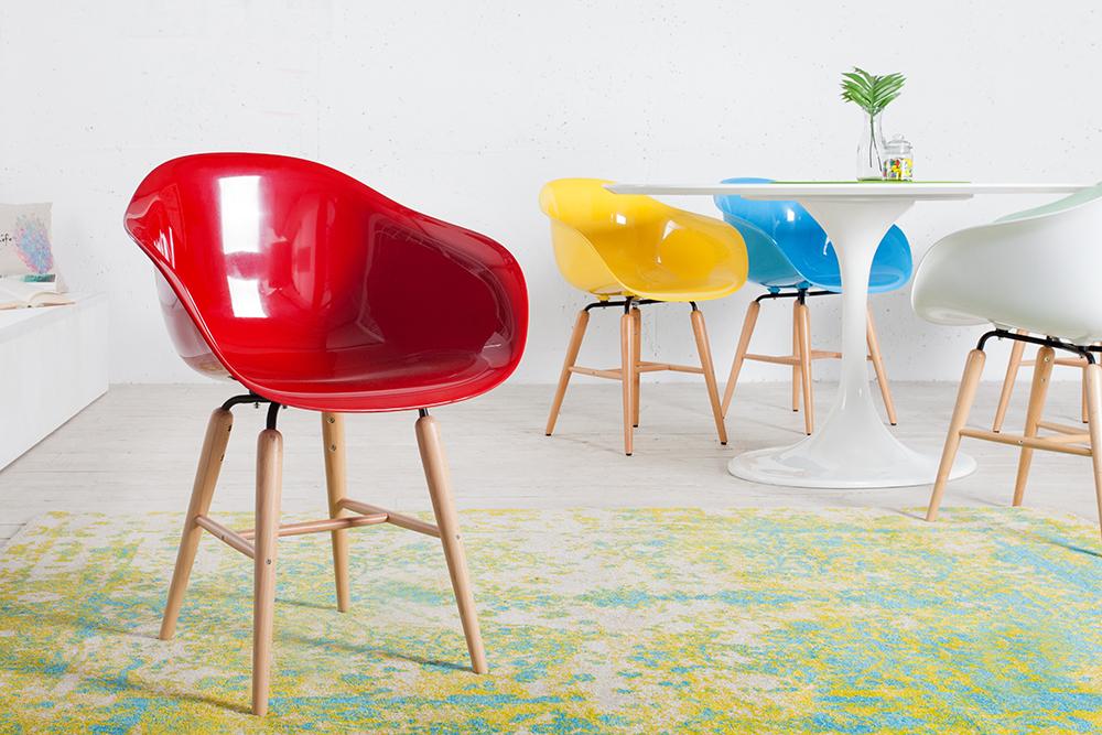 Kare design designklassiker stuhl forum rot mit gro er for Design stuhl rot