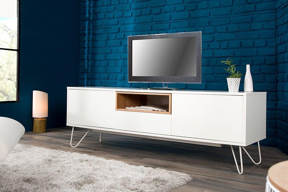 modernes design lowboard baltic 150cm edelmatt wei echt. Black Bedroom Furniture Sets. Home Design Ideas