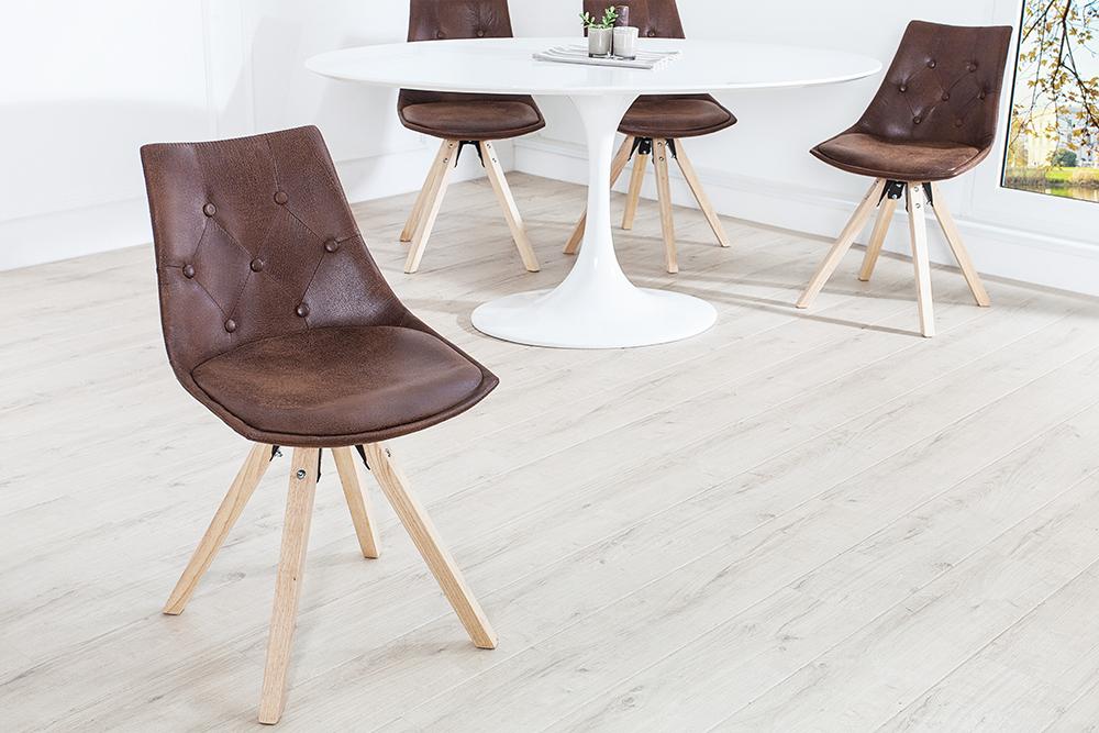 Exklusiver design stuhl very british im edlen antik braun for Stuhl design 20 jahrhundert