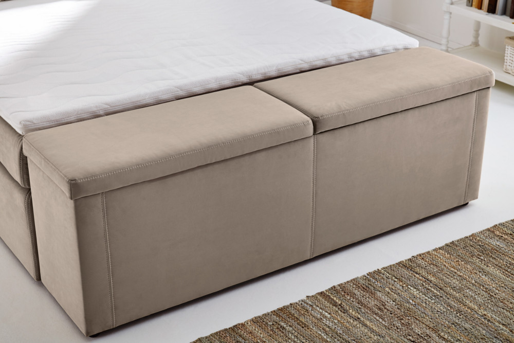 design hockerbank maison belle affaire 180 cm beige. Black Bedroom Furniture Sets. Home Design Ideas