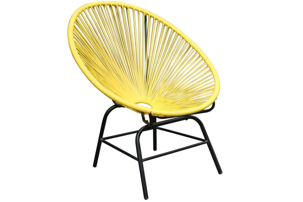 designklassiker acapulco sessel gelb gartenstuhl