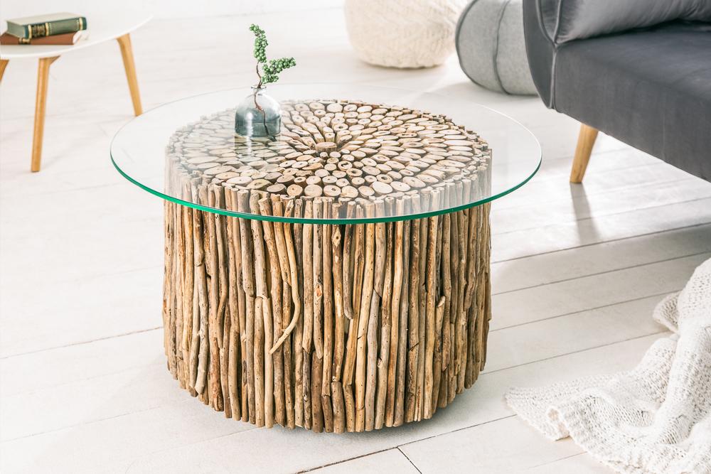 Außergewöhnlicher Treibholz Couchtisch Natures Art 80cm Handarbeit