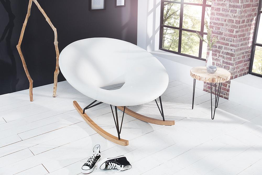 Moderner xxl design schaukelstuhl floating wei eiche for Moderner schaukelstuhl design
