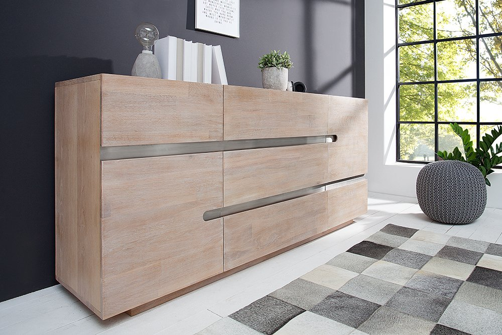 massives sideboard wotan 170cm eiche massivholz. Black Bedroom Furniture Sets. Home Design Ideas