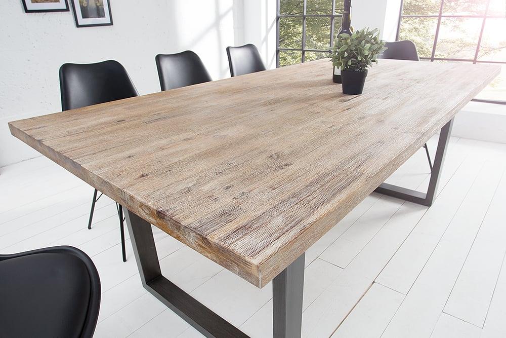 Massiver esstisch wotan akazie 200cm massivholz tisch for Esstisch echtholz
