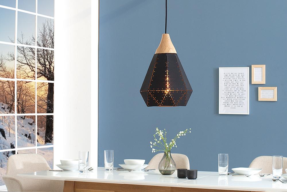 Moderne Hängeleuchte SCANDINAVIA I 28cm schwarz Scandinavian Design |  Riess-Ambiente.de