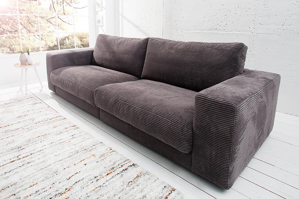 Couch grau couch noelia grau blau x legere polsterung for Sofa xxl lutz