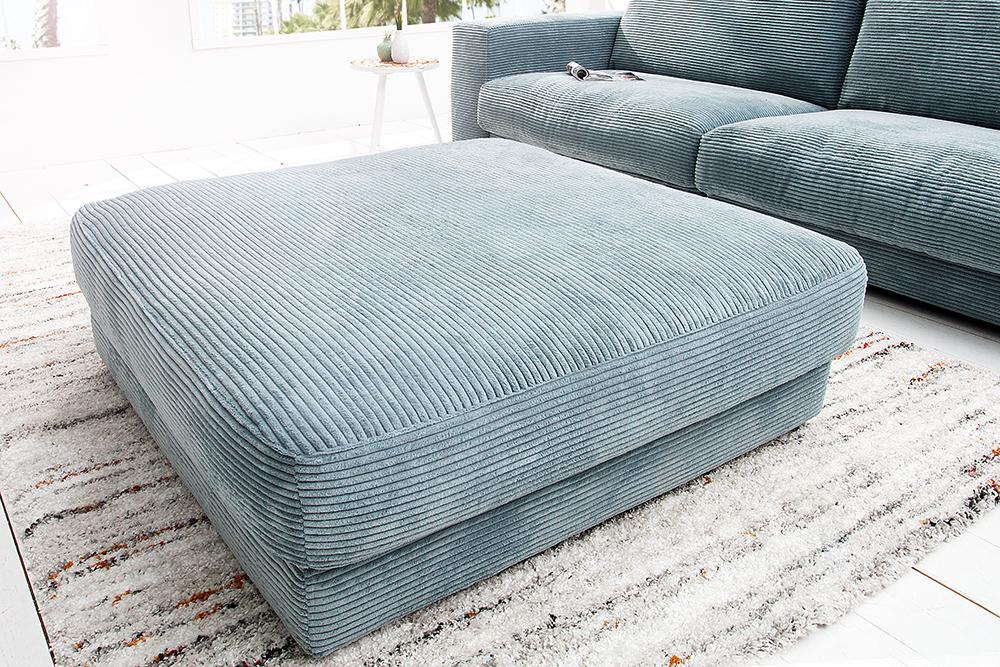 hocker zu designsofa seventies von candy lifestyle hellblau riess. Black Bedroom Furniture Sets. Home Design Ideas
