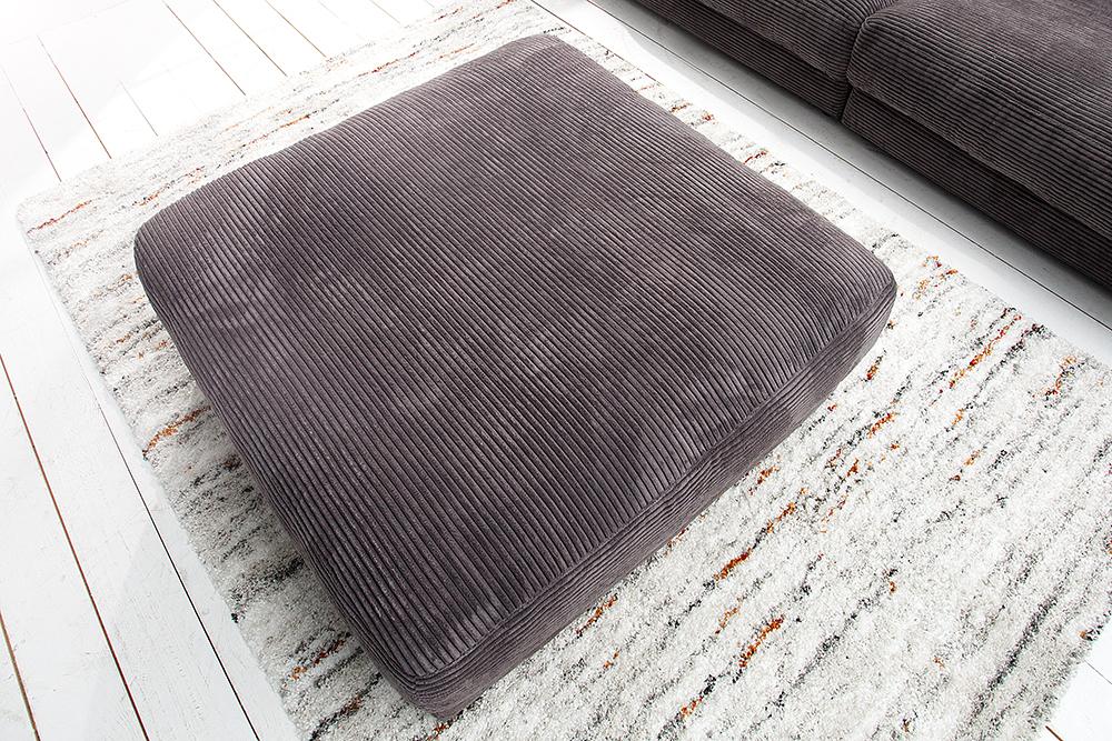 hocker zu designsofa seventies von candy lifestyle grau riess. Black Bedroom Furniture Sets. Home Design Ideas