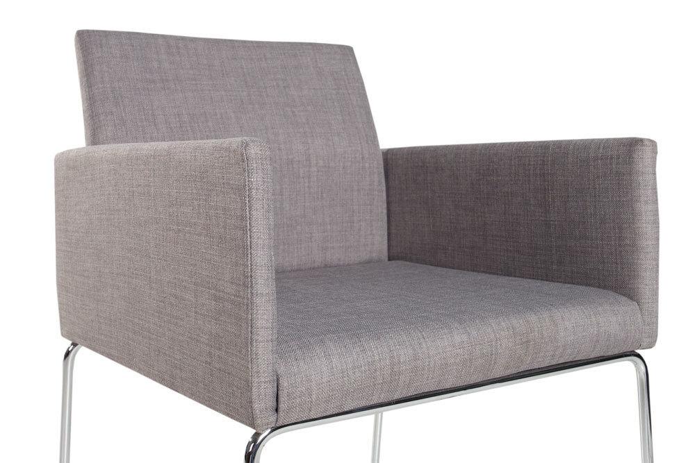 Eleganter Design Stuhl Livorno Strukturstoff Grau Konferenzstuhl Mit