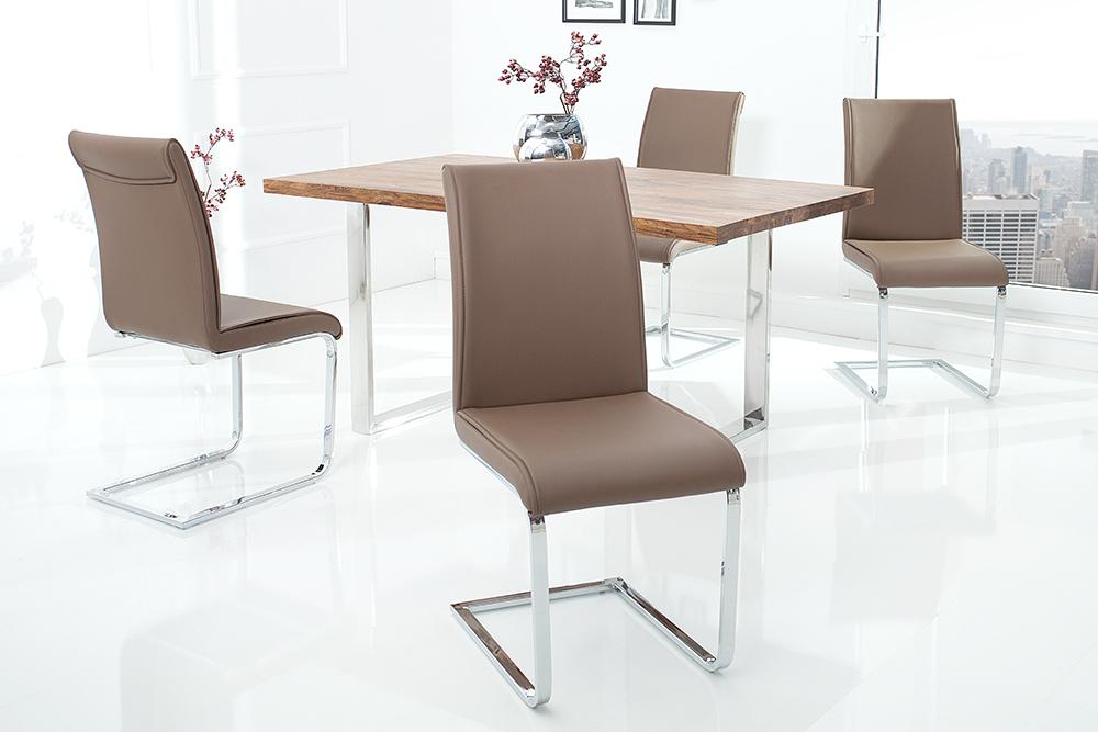 moderner design schwinger stuhl elegance champagne braun. Black Bedroom Furniture Sets. Home Design Ideas