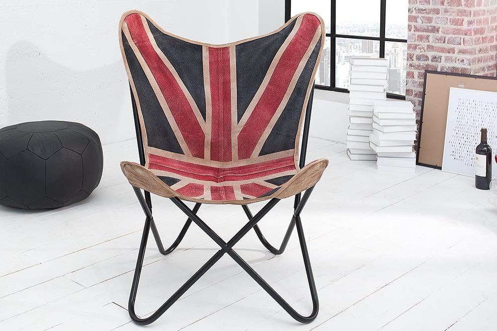 Designklassiker lounge sessel butterfly union jack for Sessel designklassiker