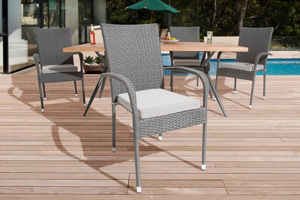 rattan stapelstuhl cool stck wohaga aluminium stapelstuhl. Black Bedroom Furniture Sets. Home Design Ideas