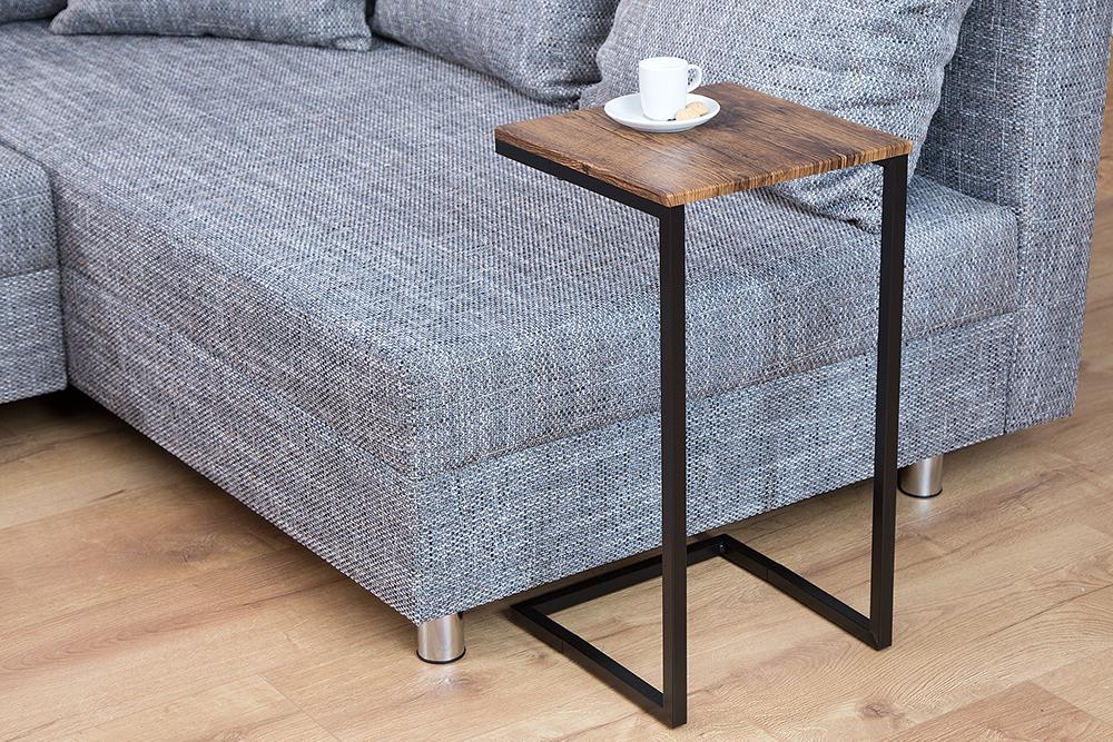 Design beistelltisch simply clever 60cm vintage look for Beistelltisch design schwarz