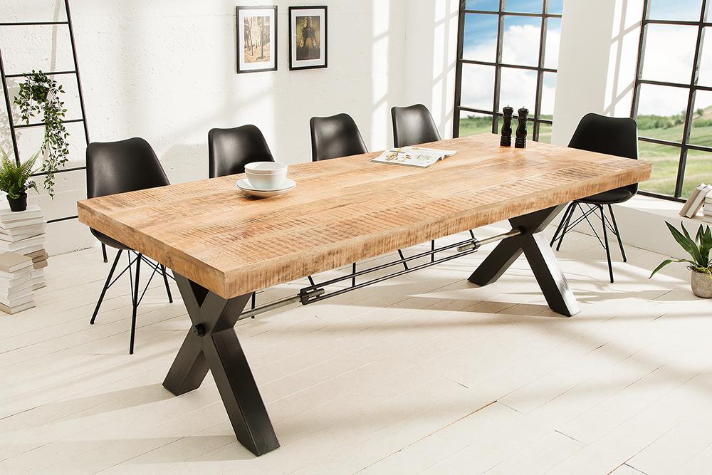 massiver esstisch iron craft eisen 240cm industrial design riess. Black Bedroom Furniture Sets. Home Design Ideas