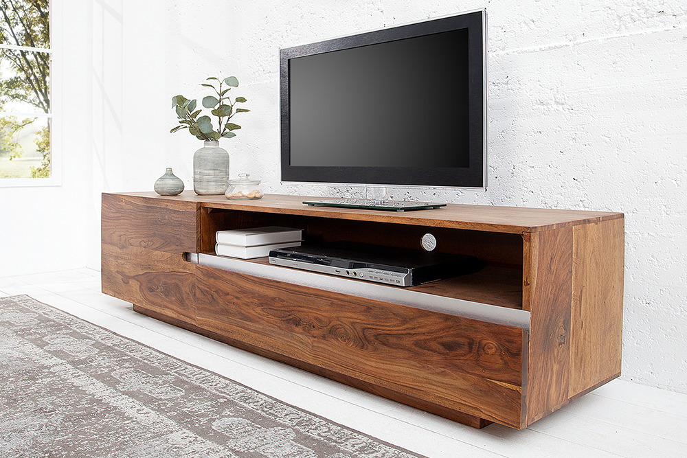massives tv board fire earth ii 160cm sheesham holz. Black Bedroom Furniture Sets. Home Design Ideas