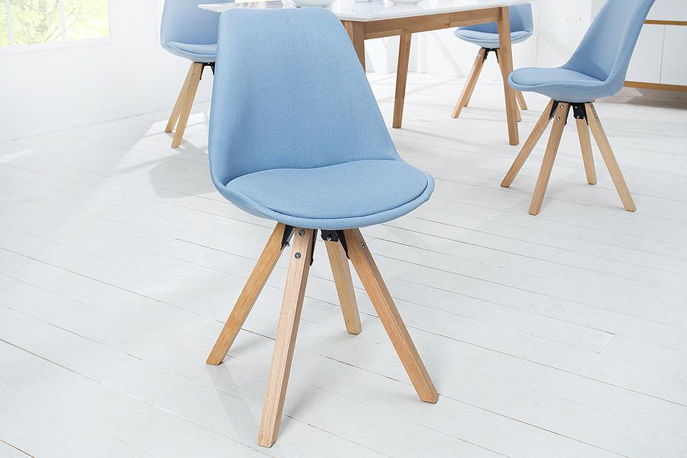 Im Massivholzbeine Stuhl Strukturstoff Blau TrendRiess Scandinavia Retro Meisterstück SUGMpqzV