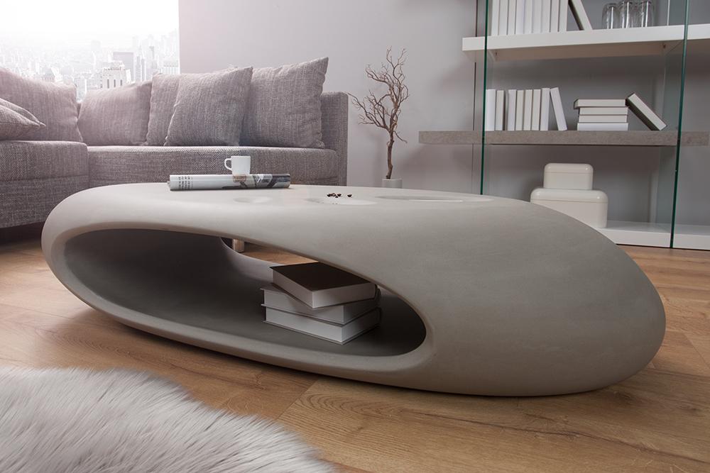 Design couchtisch organic ii hochwertiges fiberglas beton for Designer couchtisch