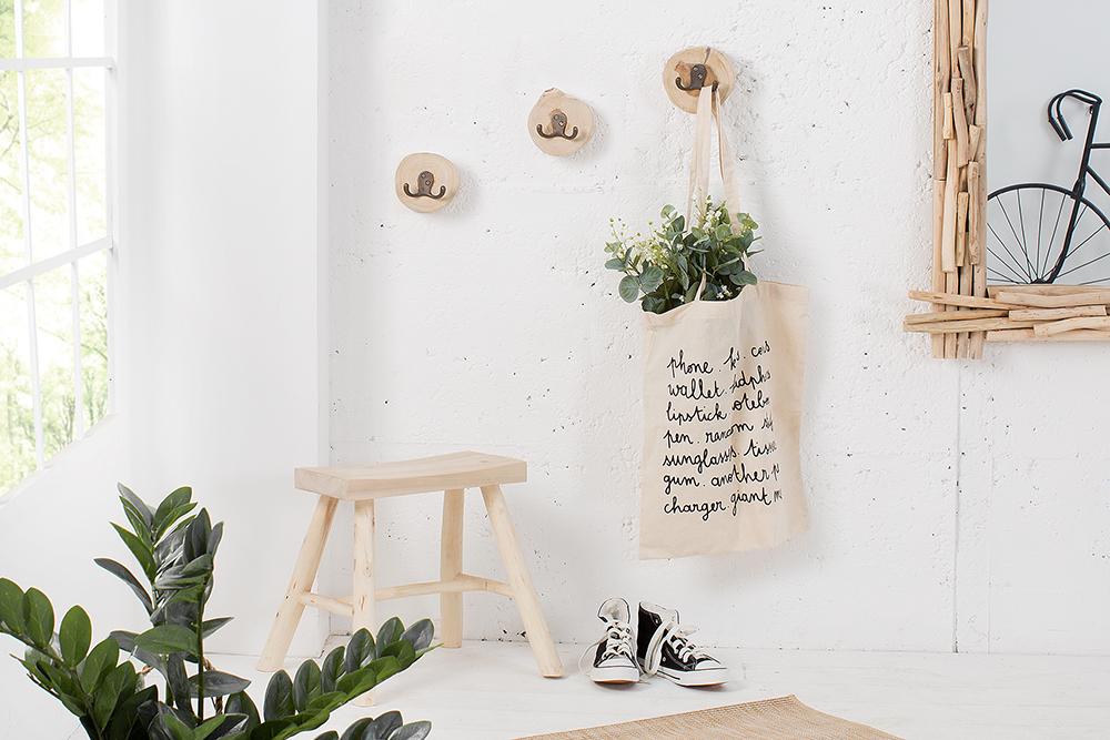 design wandgarderobe 3er set limotion teak holz riess. Black Bedroom Furniture Sets. Home Design Ideas