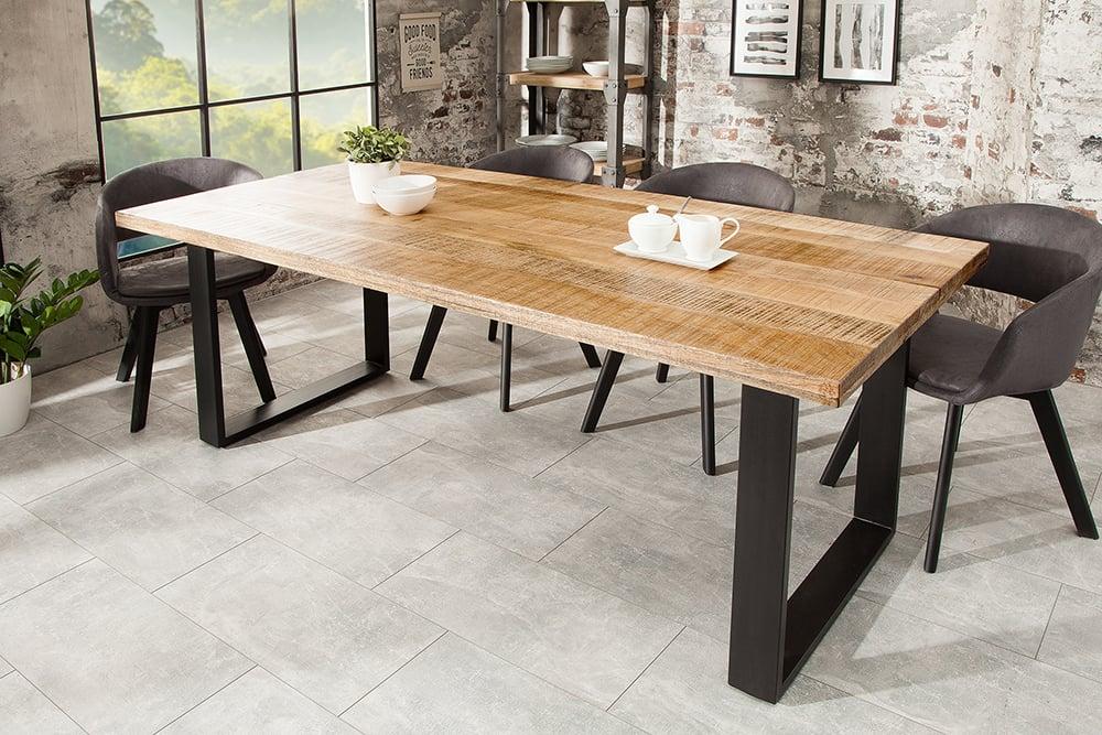 design esstisch iron craft 180cm mangoholz eisen industrial design riess. Black Bedroom Furniture Sets. Home Design Ideas