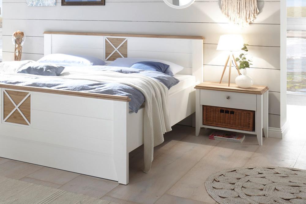 elegante nachtkommode sylt 60cm wei nachttisch landhausstil riess. Black Bedroom Furniture Sets. Home Design Ideas
