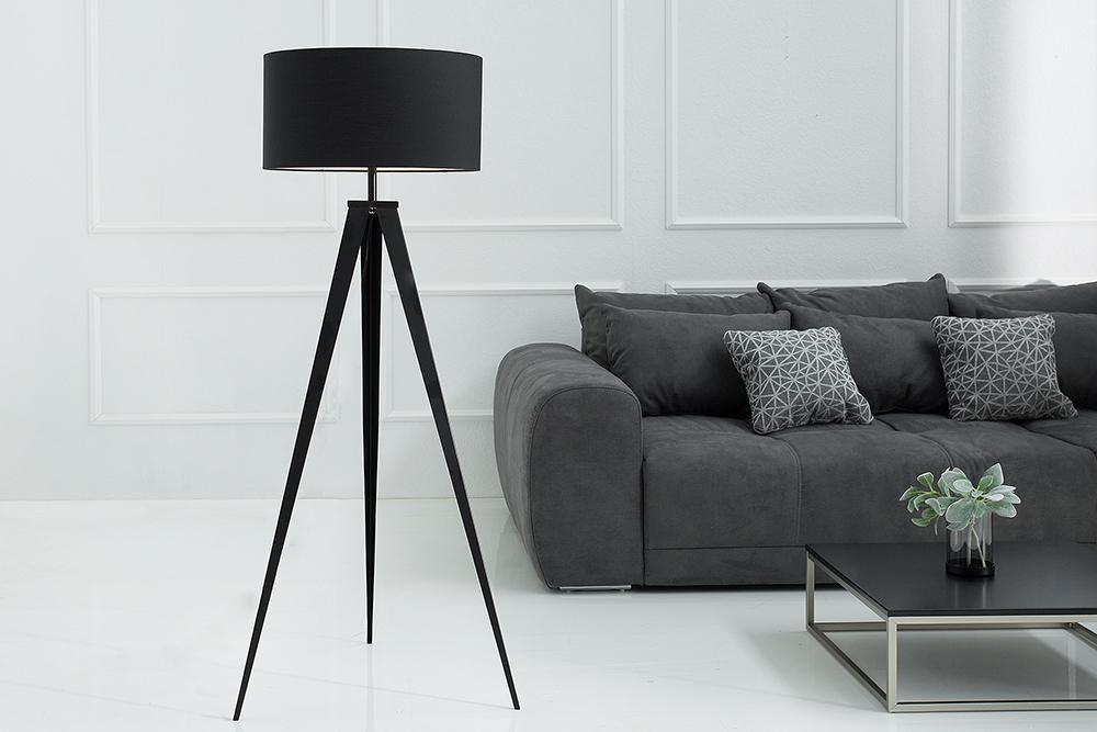 Elegante Stehleuchte TRIPOD 142cm schwarz Retro Stehlampe |  Riess-Ambiente.de