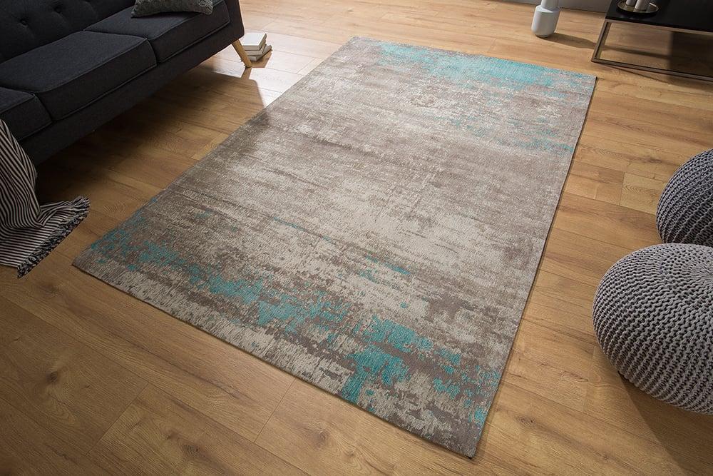 design teppich modern art 160x240cm grau blau verwaschen vintage riess. Black Bedroom Furniture Sets. Home Design Ideas