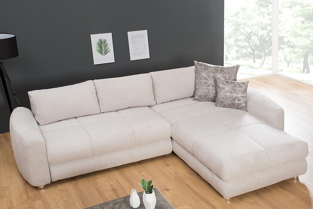Moderne Wohnlandschaft Ambience 290cm Beige Schlafsofa Inkl Kissen