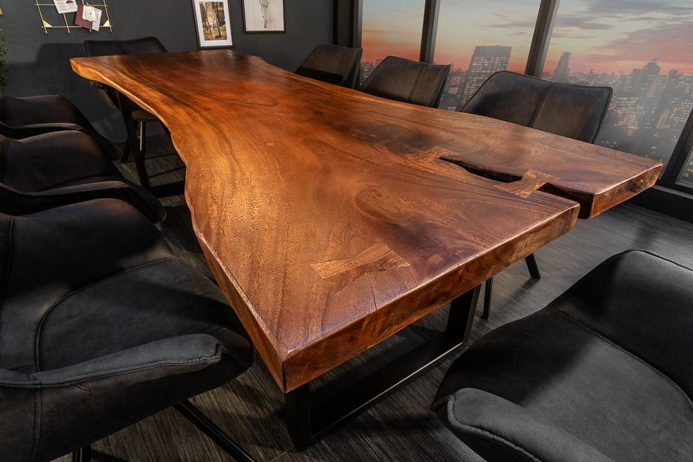 Exklusiver Massivholz Esstisch SUAR 240cm Akazie Baumkanten Tisch ...