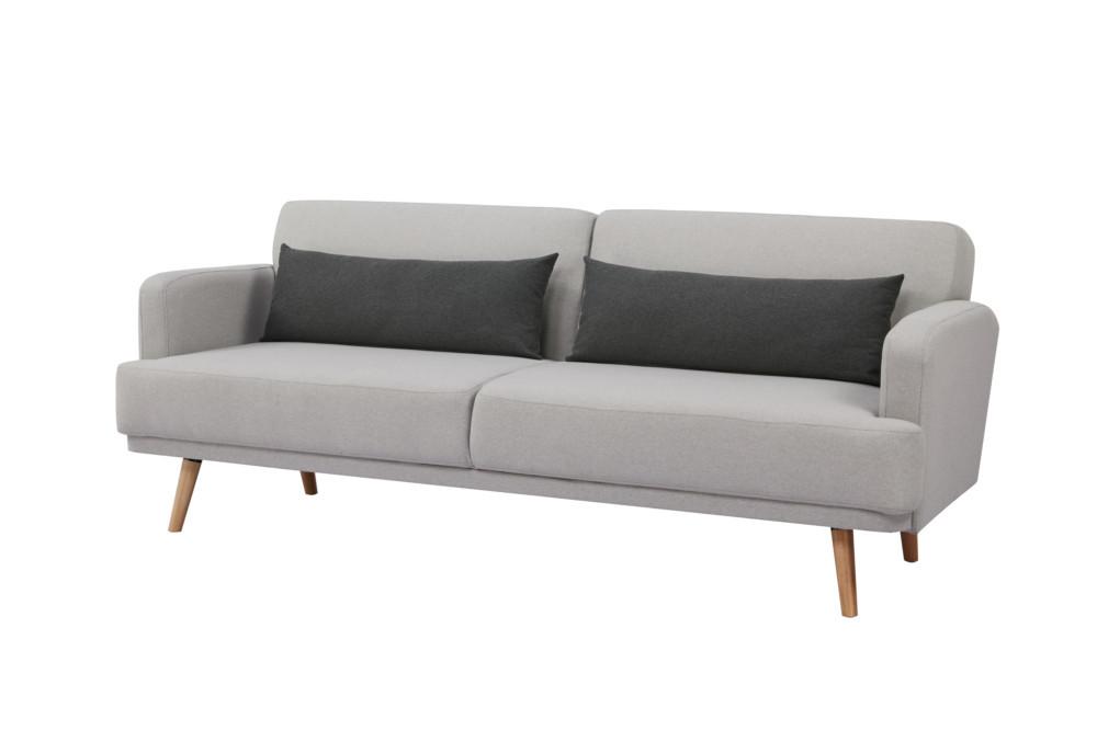 Elegantes 3 Sitzer Sofa Studio 214cm Grau Inkl Kissen Mit