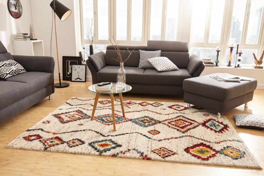 Hochflor Teppich Mit Ethno Muster Riess Ambiente De
