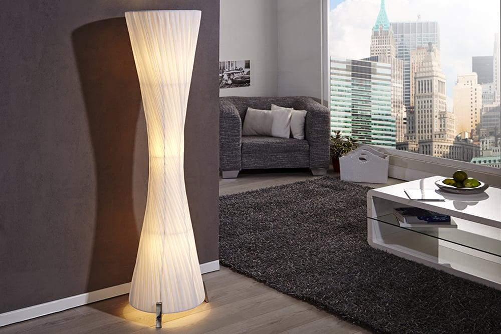 Moderne Design Stehlampe HELIX L weiss 160cm Stehleuchte Beleuchtung Lampen