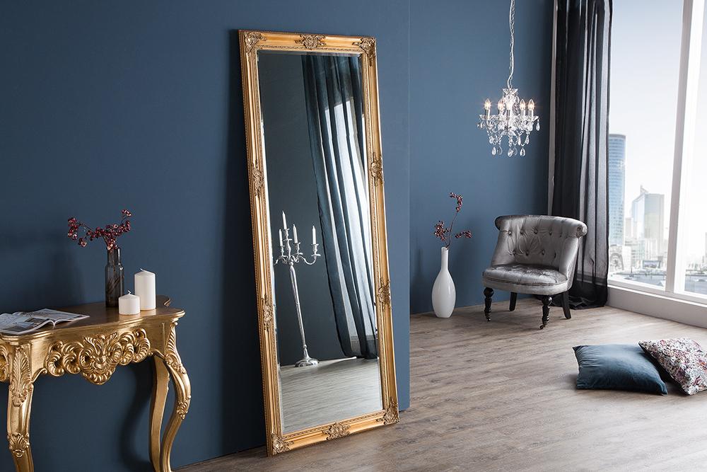 gro er barock spiegel renaissance gold 185x75cm wandspiegel riess. Black Bedroom Furniture Sets. Home Design Ideas