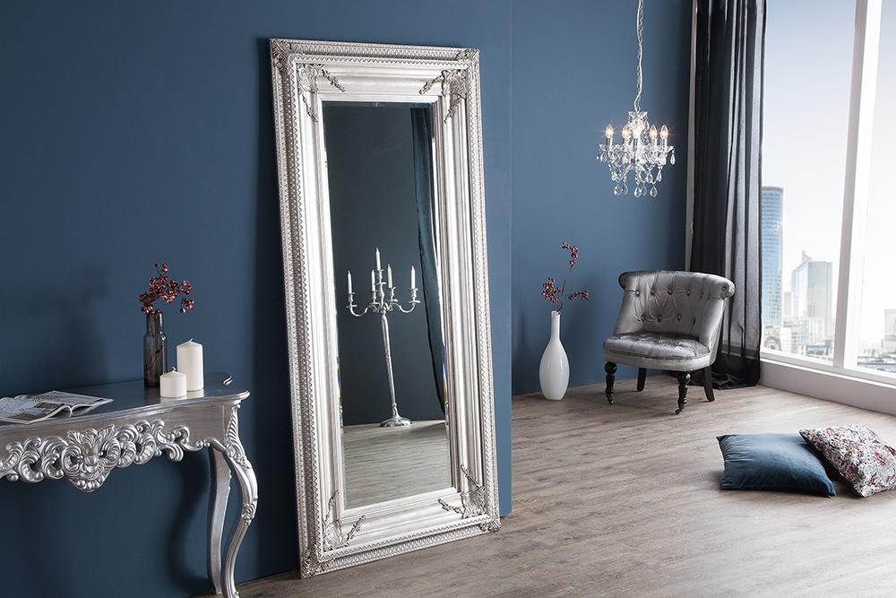 barock spiegel renaissance antik look silber 180x85cm wandspiegel standspiegel riess. Black Bedroom Furniture Sets. Home Design Ideas