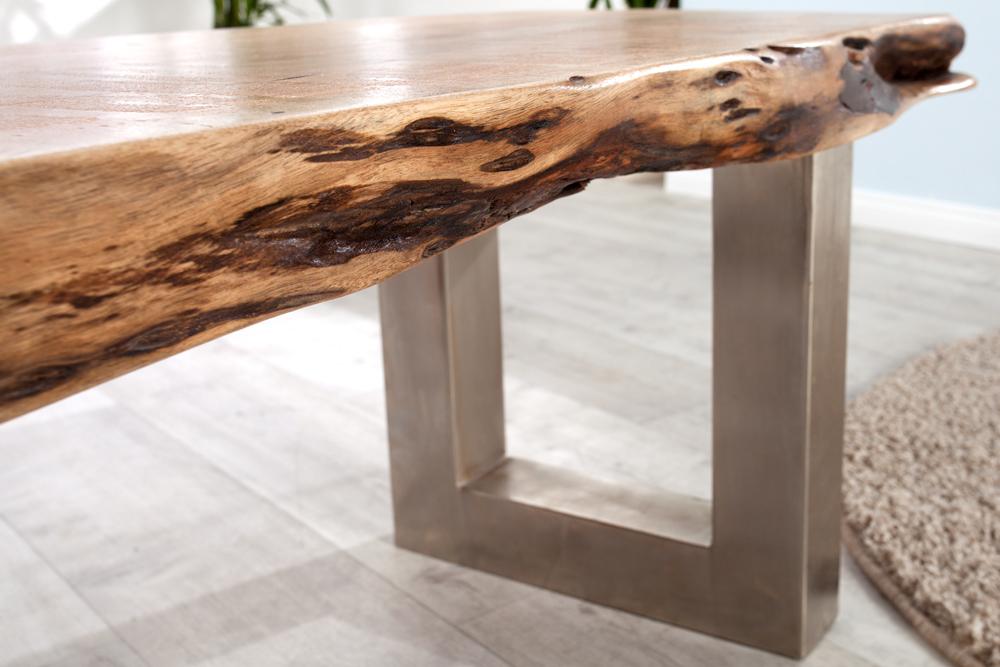 massive baumstamm bank mammut 160cm akazie massivholz. Black Bedroom Furniture Sets. Home Design Ideas