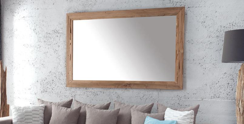 Exklusiver Spiegel FRAME aus unbehandeltem Teakholz 160cm