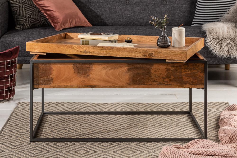 Mit abnehmbarer Tischplatte