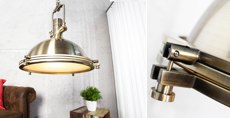 Design Hängelampe INDUSTRIAL bronze 45 cm Industrielampe Designklassiker